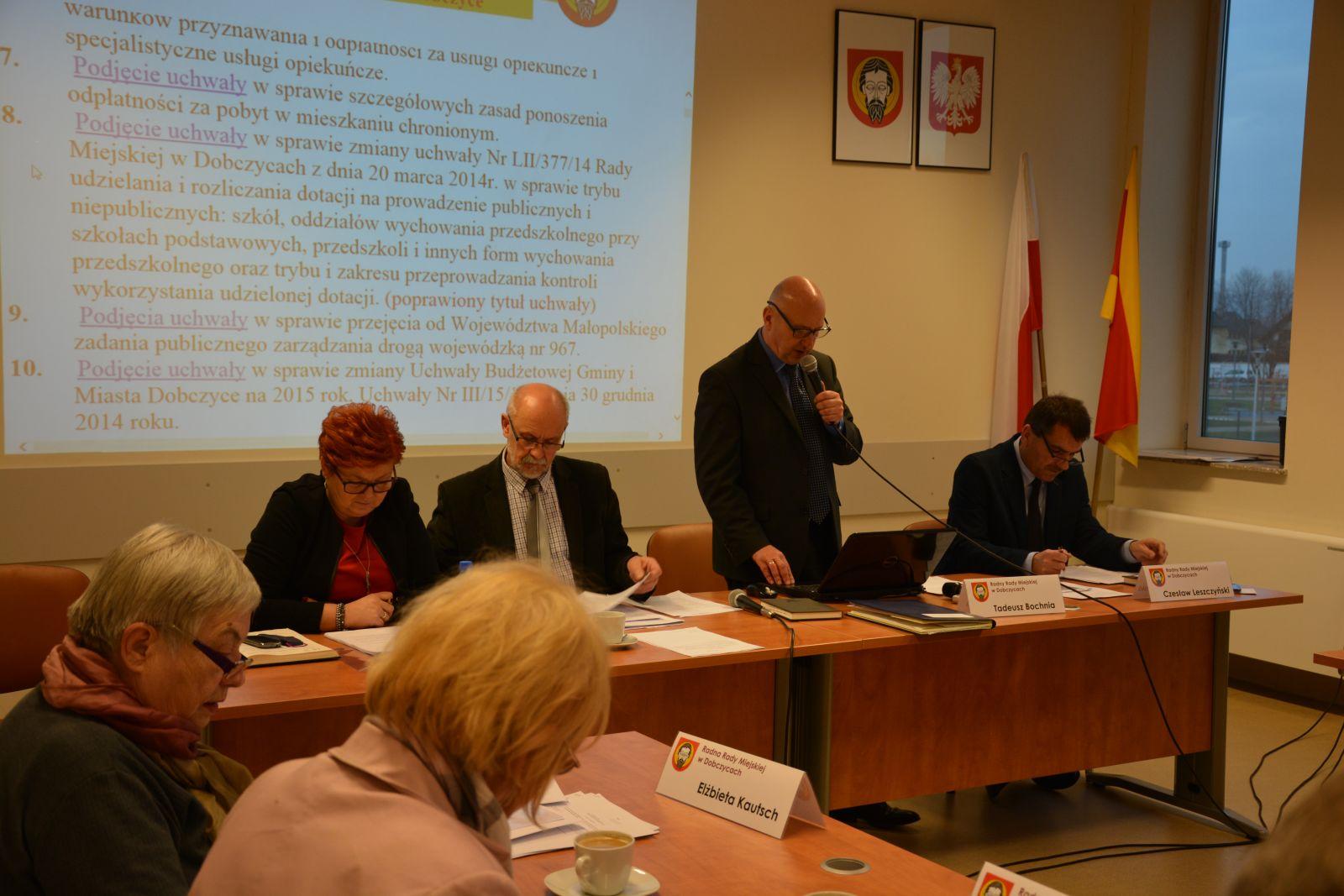 Zdjęcie z sesji Rady Miejskiej