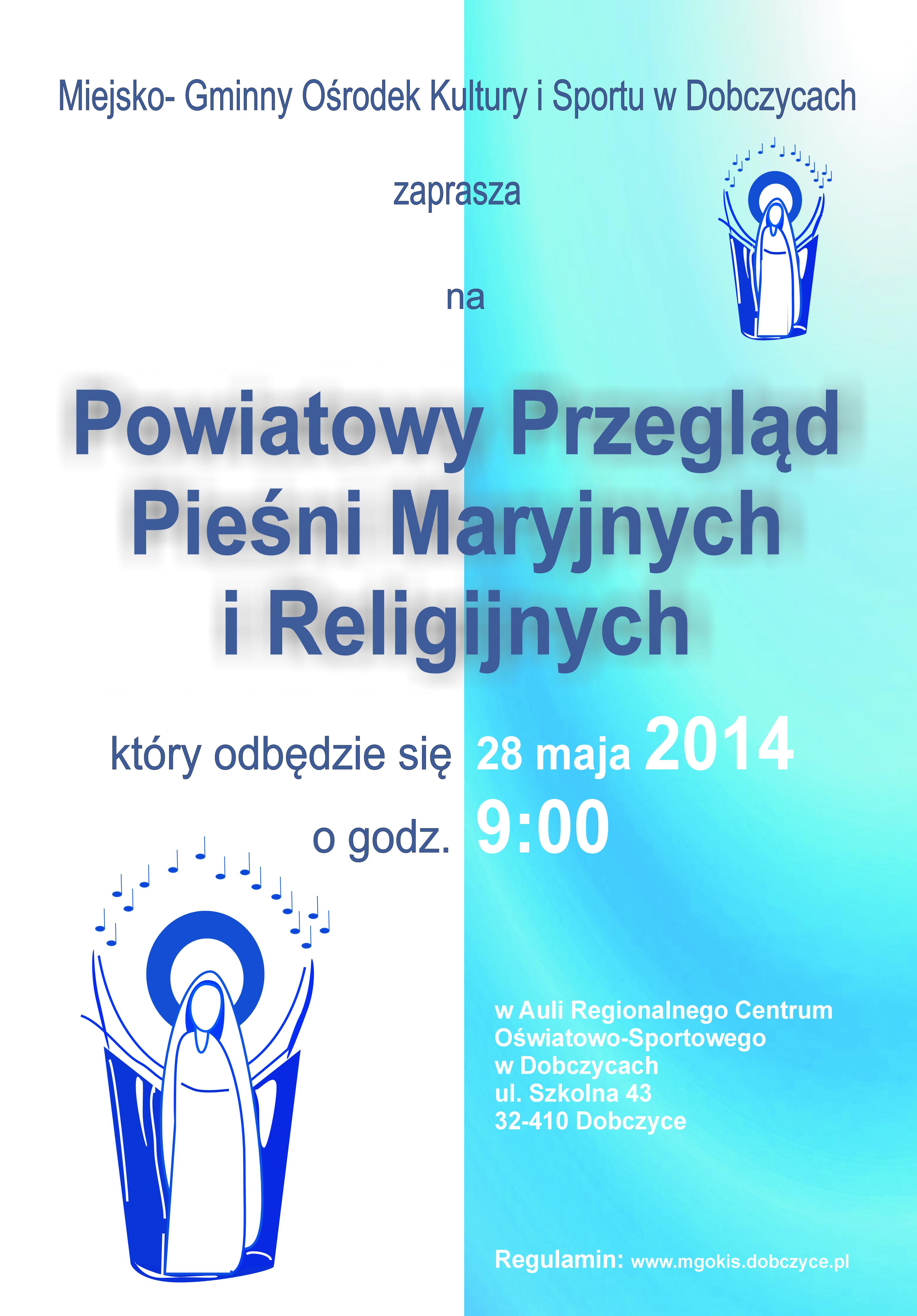 Powiatowy Przegląd Pieśni Maryjnych I Religijnych Dobczyce