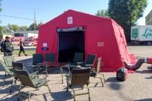 specjalny namiot do walki z COVID-19
