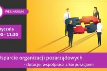 plakat promujący webinarium dla organizacji pozarządowych