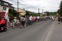 Rodzinny przejazd rowerowy ulicami Dobczyc, fot. TKKF Dobczyce