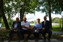 Od lewej Starosta Sarisskich Michalan, Mikulas Bibko, Józefa Baran i Burmistrz Tomasz Suś