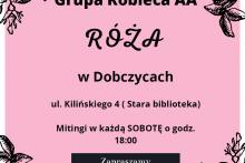 """Grupa AA """"Róża"""" zaprasza na spotkania"""