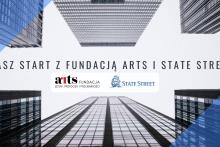 plakat informacyjny o projekcie Nasz Start z ARTS i State Street