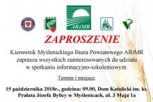 zaproszenie na spotkanie informacyjno-szkoleniowe ARiMR