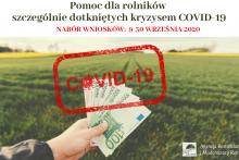 pomoc dla rolników szczególnie dotkniętych kryzysem COVID-19