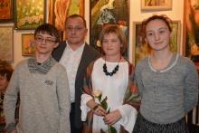 Wernisaż koronczarki pani Małgorzaty Budyn i wieczorek poetycki pana Kazimierza Budyna