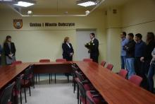 Burmistrz wita w urzędzie Wiceburmistrza Gminy i Miasta Dobczyce