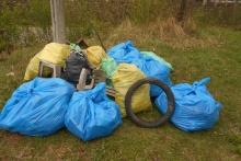 akcja sprzątania w Kornatce