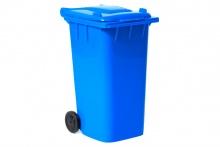 niebieski pojemnik na śmieci