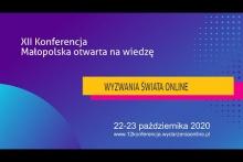 """Zaproszenie na konferencję """"Małopolska otwarta na wiedzę"""""""