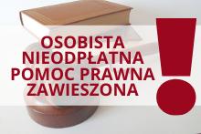 Powiat Myślenicki zawiesza nieodpłatne udzielanie porad prawnych osobiście