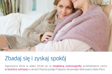 bezpłatna mammografia w Dobczycach - plakat