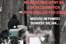pomoc bezdomnym w zimie - grafika przykładowa