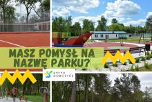 grafika - park miejski w Dobczycach