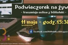 Podwieczorek na żywo z dobczyckiej biblioteki