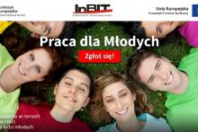 """Nabór do projektu """"Praca dla Młodych"""" - plakat promocyjny"""