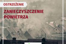grafika informująca o zanieczyszczeniu powietrza