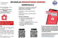 informacja graficzna o aplikacji na telefon dla osób przebywających na kwarantannie