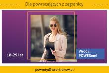 """plakat promujący projekt """"Wróć z POWERem!"""""""