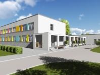 wizualizacja zmodernizowanego i rozbudowanego przedszkola nr 3