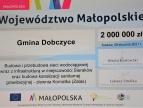 symboliczny czek na kwotę 2 mln złotych