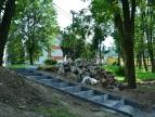 Postęp prac w parku miejskim