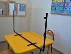sala logopedyczna z zamontowanym lustrem logopedycznym