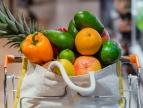 żywność w torbie ekologicznej