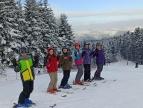 """nauka jazdy na nartach w ramach proejktu """"Jeżdżę z głową"""""""
