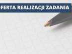 kartka i długopis oraz napis: oferta realizacji zadania