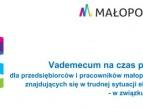 Vademecum na czas pandemii dla przedsiębiorców i pracowników małopolskich firm znajdujących się w trudnej sytuacji - w związku z covid-19