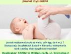 Bezpłatne badania stawów biodrowych u niemowląt zamieszkujących powiat myślenicki