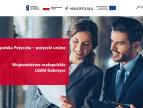 tekst: Małopolska pożyczka - pożyczki unijne, Województwo małopolskie, UGiM Dobczyce oraz para biznesmenów - kobieta i mężczyzna