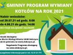 Gminny Program Wymiany Kotłów na rok 2021