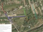 mapka przedstawiająca planowane prace związane z odwodnieniem terenu Dobczyce - Zarabie