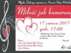 """Plakat - koncert pt.: """"Miłość jak bumerang"""""""