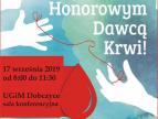 plakat - zostań honorowym dawcą krwi