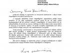 Podziękowanie za zaproszenie Marszałka Województwa Małopolskiego - Jacka Krupy