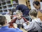 Przygotowania dobczyckiej grupy do Powiatowych Mistrzostw Robotów