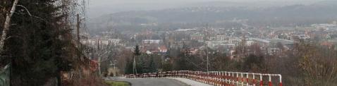 22 listopada 2015 - Budowa chodnika przy ul. 21 Stycznia w Dobczycach