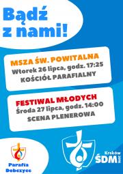 plakat - Światowe Dni Młodzieży