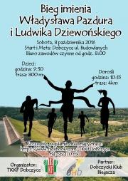 plakat bieg im. Władysława Pazdura i Ludwika Dziewońskiego