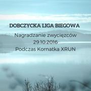 Plakat informujący o nagrodzeniu zwycięzców Dobczyckiej Ligi Biegowej