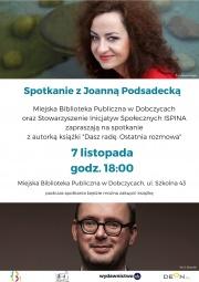Spotkanie z Joanną Podsadecką