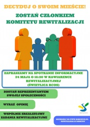 spotkanie informacyjne Komitet Rewitalizacyjny