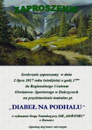 """Przedstawienie """"Diabeł na Podhalu"""""""