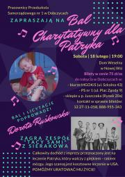 Plakat Bal charytatywny dla Patryka