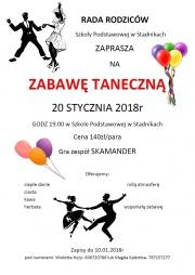 Plakat promujący zabawę taneczną
