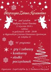 Integracyjna Zabawa Karnawałowa - plakat